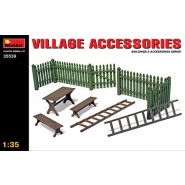 Village Accessories. Gate, benches and ladders