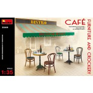 Cafe Furniture (tables and chairs) & Crockery