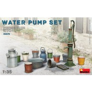 Water pump set. Kit contains 52 parts for assembling models of Buckets, Cans, Washbowl and Water Pump.