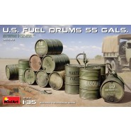 U.S. FUEL DRUMS 55 GALS. Kit contains model of 35592 U.S. Fuel Drums 55 Gallons