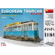 European Tram Car with Crew & Passengers