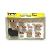 H0 Pigs (pack of 12)