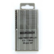 Microbox Drill Set (20) 0.3 to 1.6mm