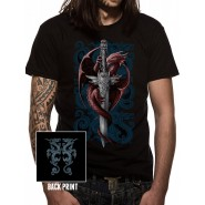 Anne Stokes - Dragon & Dagger T-SHIRT - BLACK (Size: M)