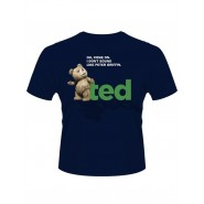 Ted T-Shirt OH, Come On Navy (Size: L)