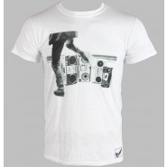 The Clash - Hits Back Jumbo T-Shirt White(Size: M)
