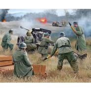7,5cm PaK 40 with 6 crew figures (WWII) DOUBLE KIT! Contains 2 guns and 12 figures!