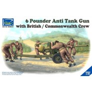 6 Pounder Infantry Anti-tank Gun with British Commonwealth Crews (5 Figures)