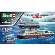"Gift Set ""125 Years Hurtigruten"" (includes paints, glue and paint brush)"