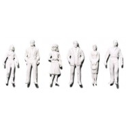 White Standing Figures x 30 pcs.
