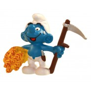The Smurfs Figure Farmer Smurf with skythe 6 cm