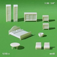 White Bedroom Furnitures Set (10 pcs.)