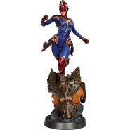 Marvel Premium Format Figure 1/4 Captain Marvel 58 cm Sideshow Exclusive Alternate Helmeted Portrait