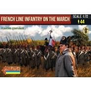 French Line Infantry on the March 1 (Flanking Companies) Napoleonic