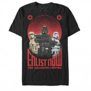 Star Wars Rogue One Enlist Now Galactic Empire T-Shirt Black (SIZE:S)
