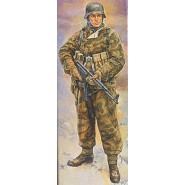 German (WWII) Infantryman in reversable winter uniform