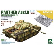 Pz.Kpfw.V Ausf.D Panther Early/Mid with full interior 2 in 1 plus Bonus transparent shell