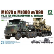 M1070 & M1000 with D9R US Army 70 Ton Tank Transporter & Bulldozer