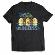 Minions Movie - Egypt T-Shirt - Black (Size: S)