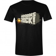 Minions Movie - Minions Rock T-Shirt - Black (Size: L)