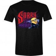 Minions Movie - Sorry I'm Bad T-Shirt - Black (Size: S)