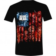 The Walking Dead - Walkers Flag Montage T-Shirt - Black (SIZE: L)