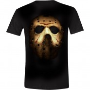 Friday the 13th T-Shirt Jason Mask - Black (Size: S)
