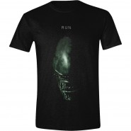 Alien Covenant Alien Face Run Men T-Shirt Black (Size: L)