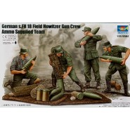 German s.FH 18 Field Howitzer Gun Crew. Ammo Supplied Team