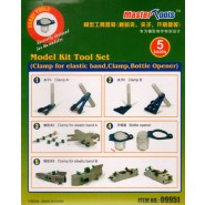 Model Kit Tool Set Clamp for elastic band, Clamp, Bottle Opener