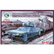 "Armored platform ""Tank destroyer"" (as part of the German armored train)  Length, mm: 90"