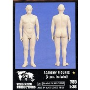 Academy Figures (2 pcs. included) (Resin)