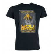 Alien Get Away From Her You B*tch T-Shirt Black (Size: S)