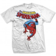 Marvel Comics T-Shirt Spidey Stamp White (Size: S)