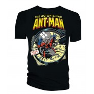Marvel Comics Ant-Man Magnifying Glass T-Shirt Black (SIZE:S)