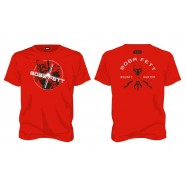 Star Wars Boba Fett Bounty Hunter T-Shirt Red (SIZE:XXL)