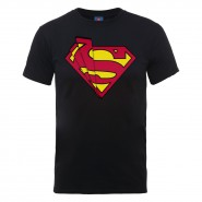 DC Comics Superman Glass Logo T-Shirt Black (SIZE:S)