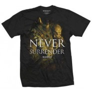Warcraft Never Surrender T-SHIRT Black (SIZE:S)