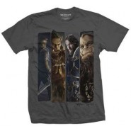 Warcraft Character Slice T-SHIRT Grey (SIZE:S)
