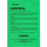 A4 Clear Decal Sheet  (suitable for laser copiers) (1 UNIDADE)