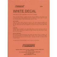 A4  White decal sheet (suitable for laser copiers) (1 UNIDADE)